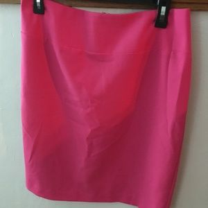 Hot pink pencil skirt (size 6)